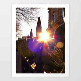 'Urban Sunburst' Art Print