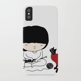 Crazy about wool iPhone Case