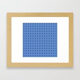 Jeff Goldblum Pattern Blue Framed Art Print