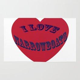 I love narrowboats heart Rug