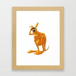 kangaroo ready for party Framed Art Print