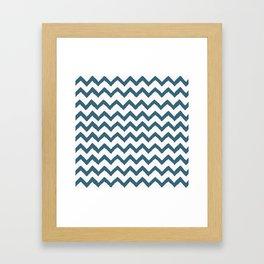 Chevron Teal Framed Art Print