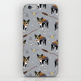 Boston Terrier witch wizard dog pattern gifts iPhone Skin