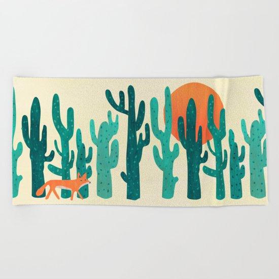 Desert fox Beach Towel