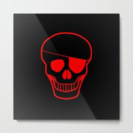 Skull With Eye Metal Print