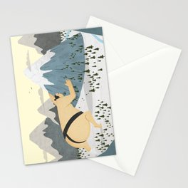 Oyama Fights The Mountain Stationery Cards