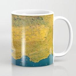 Map Of California 1957 Coffee Mug