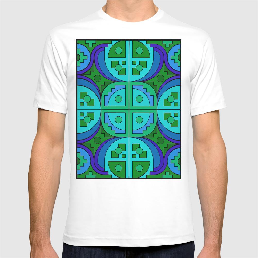 Blue Gear Pseudo-quilt Shirt by Havocgirl TSR8799346