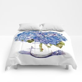 Cape Cod Hydrangea Large Canvas Comforters