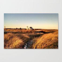 Hardings Beach Light House Canvas Print