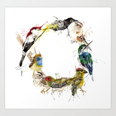 Endangered Wreath Art Print