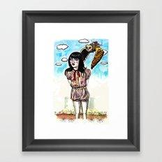 Owl Messenger Framed Art Print