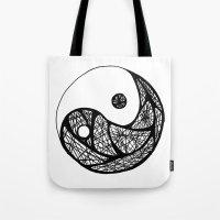 yin yang Tote Bags featuring Yin Yang by Daniel Pearson