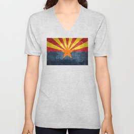 State flag of Arizona, the 48th state Unisex V-Neck