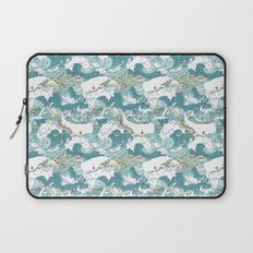 Whales and waves pattern Laptop Sleeve