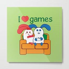 Ernest | Loves games Metal Print