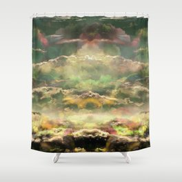 Head in the Clouds by Debbie Porter - Designs of an Eclectique Heart Shower Curtain