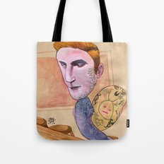 TATTOOED SNAIL DUDE Tote Bag