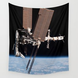Endeavour docked to ISS Wall Tapestry