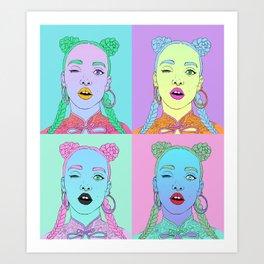 FKA Twigs Pop Art Art Print
