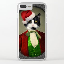 Puccini goes to a Christmas Party Clear iPhone Case