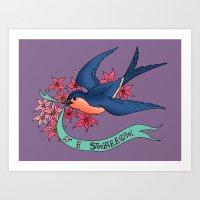 I swallow. Art Print