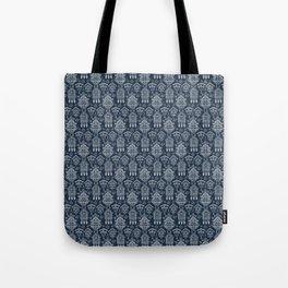 Cuckoo Clocks on Blue Tote Bag