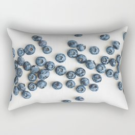 Fresh ripe blueberries over white. Food background. Rectangular Pillow