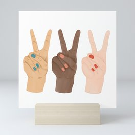 Peace Hands Mini Art Print