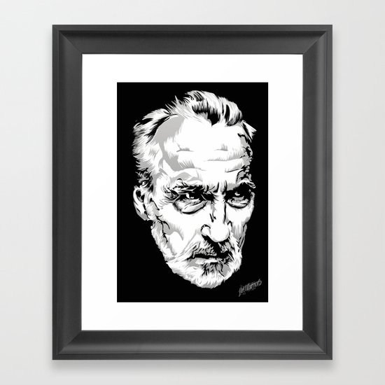Sir Christopher Lee Framed Art Print