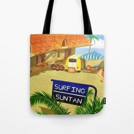 Costa Del Sol Surfing Suntan Tote Bag