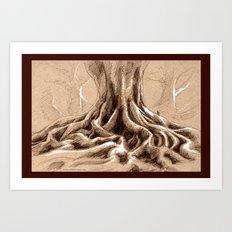 The Banyan Grove Tree Art Print