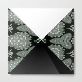Microbelack and white angles Metal Print