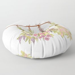 herbs in pastel colors . Floor Pillow