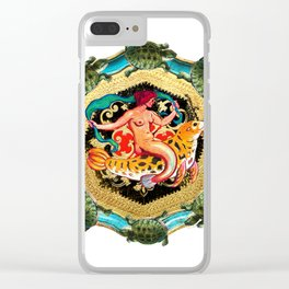 Mythology and Turtles Clear iPhone Case
