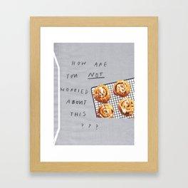 worried Framed Art Print