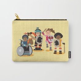 Knight kids - yellow background Carry-All Pouch
