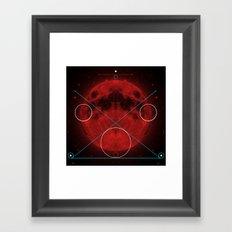 Red Moon Graphish. Framed Art Print