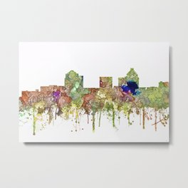 Greensboro, North Carolina Skyline - Faded Glory Metal Print