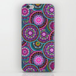 Bright Bohemian Boho Hippy Chic Pattern iPhone Skin