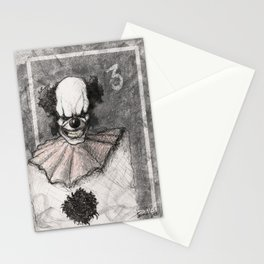 Clown Number 3 Stationery Cards