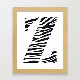 Z-ebra Framed Art Print