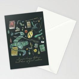Slytherin House Stationery Cards