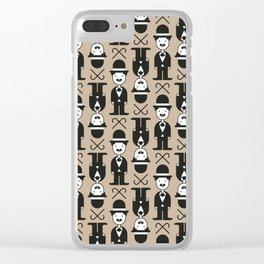 Charlie Chaplin Pattern Clear iPhone Case
