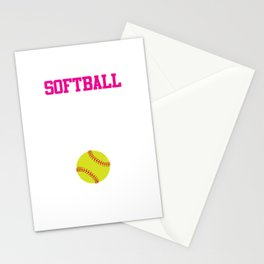 Softball There's Nothing Soft About it Funny T-shirt Stationery Cards