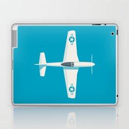 P51 Mustang Fighter Aircraft - Cyan Laptop & iPad Skin