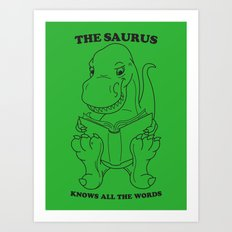 Thesaurus Art Print