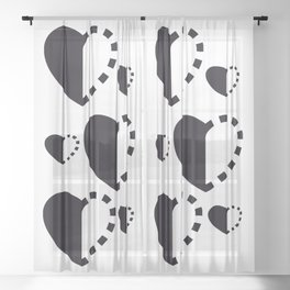 Micah Mason Foundation Heart - Black Sheer Curtain
