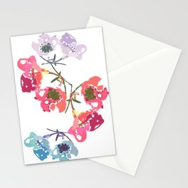 flowing flowers Stationery Cards