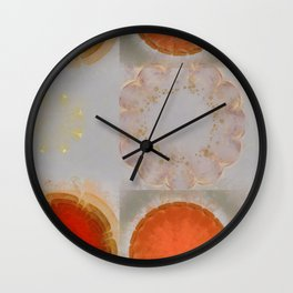Parasexual Constitution Flowers  ID:16165-134603-28710 Wall Clock